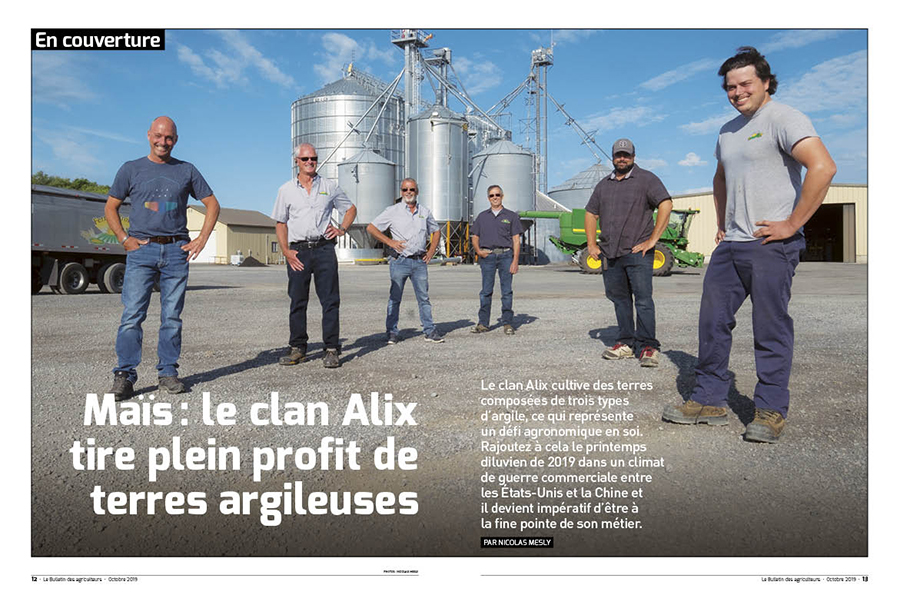 Le clan Alix de Saint-Jean-sur-Richelieu. Photo : Nicolas Mesly
